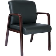 Alera Wood Reception Lounge Series Guest Chair, Mahogany/Black (RL4319M)