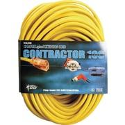 Coleman Cable SJTW Extension Cord, 100 ft L
