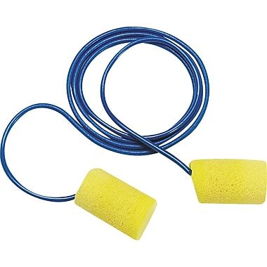 3M™ E-A-R™ Classic™ Metal Detectable Cord Earplug, Yellow, NRR 33 dB