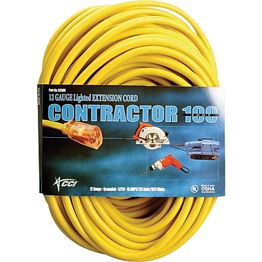 Coleman Cable SJTW Extension Cord, 50 ft L