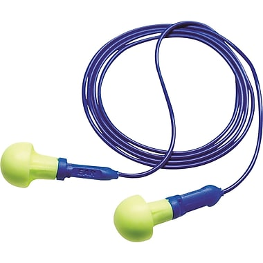 3M™ E-A-R™ Push-Ins™ Corded Earplug, Yellow, NRR 28 dB