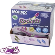 Moldex® Rockets® Reusable Corded Earplug, Purple, NRR 27 dB