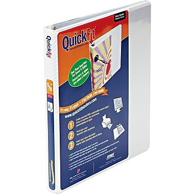1/2in. Stride QuickFit D-ring View Binder, White