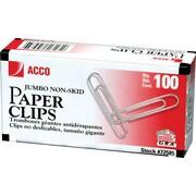 ACCO Economy Jumbo Paper Clips, Silver Finish, 100/Box