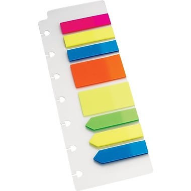 "M by Staples™ Arc System Page Flags, Assorted Colors, 2-1/2"" x 7-1/2"""