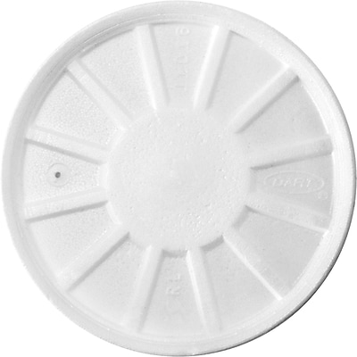 Dart 20RL Vented Lid For 6 - 32 oz. Cup, White, 500/Case 150099