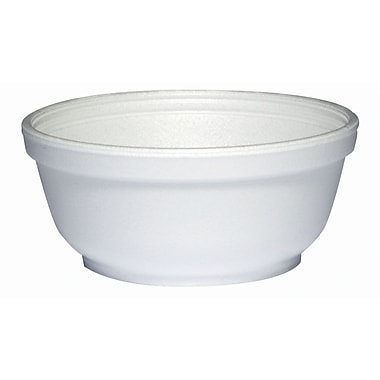 Dart® 8B20 Foam Bowl, White, 8 oz., 1000/Case