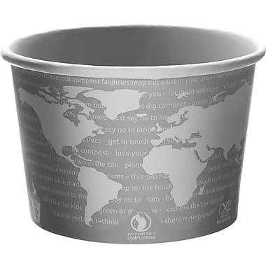 Eco-Products® World Art™ BSC16 Soup Cup, 16 oz. Gray/White, 500/Case