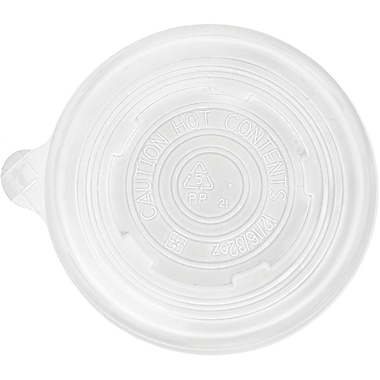 Eco-Products® World Art™ BSCPPLID-L Vented Lid For 12/16/32 oz. Cup, White, 500/Case