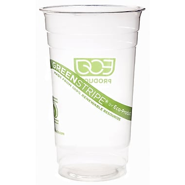 Eco-Products® GreenStripe® CC24-GS Cold Cup, Clear, 24 oz., 1000/Case