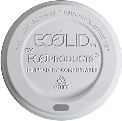 Eco-Products ECOLID-W Hot Cup Lid, Translucent, 20 oz., 800/Carton 150127
