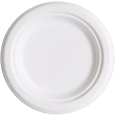 Eco-Product® P016 Dinnerware Plate, 6in.(Dia), Natural white, 1000/Carton