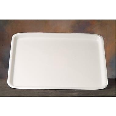 Genpak® 11418WH Supermarket Tray, White, 1/2