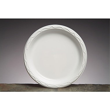 Genpak® 71000 Dinnerware Plate, Plastic, 500/Case