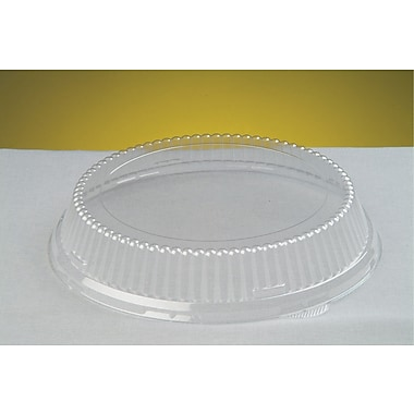 Genpak® 94010 APET Dome Lid For 10 1/4in.(Dia) Plate, Clear, 200/Case