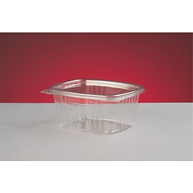Genpak® AD16 Hinged Deli Container, Clear, 2.63