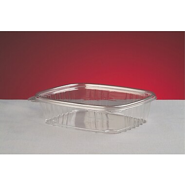 Genpak® AD24 Hinged Deli Container, Clear, 2 1/4