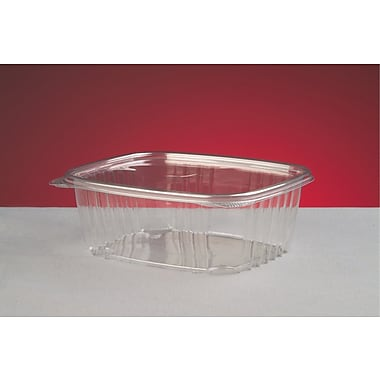 Genpak® AD32 Hinged Deli Container, Clear, 2.63