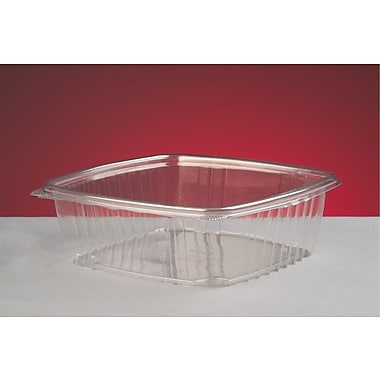 Genpak® AD48 Hinged Deli Container, Clear, 2 1/2