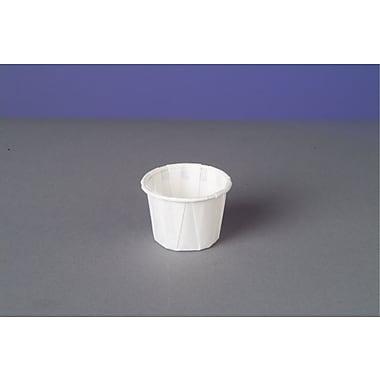 Genpak® F075 Portion Cup, White, 0.75 oz., 5000/Case