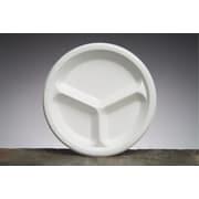 "Genpak® LAM13 Laminated Plate, 3 Compartments, 10 1/4""(Dia), White, 500/Case"