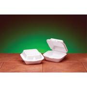 "Genpak® SN227 Jumbo Snap-It Hinged Sandwich Container, White, 2.94""(H) x 6.44""(W) x 6.38""(D)"