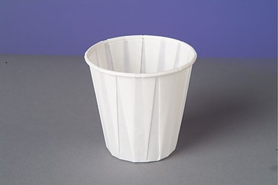 Paper Drinking Cups, 3.5oz, White, 2500/Carton W450F