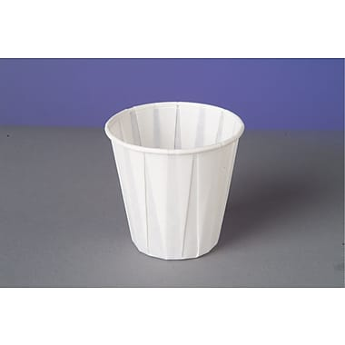 Genpak® W450F Drinking Cup, White, 3.5 oz., 2500/Case