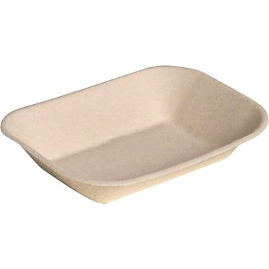 Chinet® JUST Food Tray, Beige, 7in.(W) x 9in.(D)