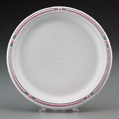 Chinet® Classic White™ POPLAR Dinnerware Plate, Molded Fiber, 500/Carton