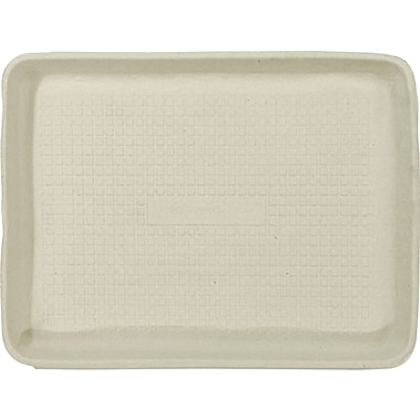Chinet® TUG Food Tray, Beige, 1in.(H) x 9in.(W) x 12in.(Dia)
