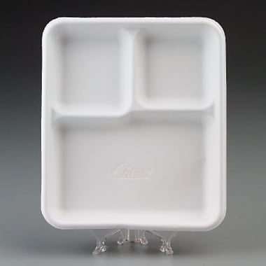 Chinet® VAGRANT Cafeteria Tray, White, 9 1/2in.(W) x 8 1/4in.(D)