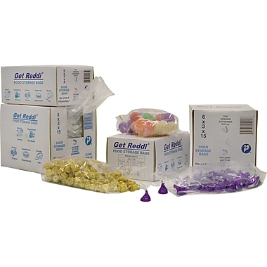Inteplast Group PB060312 Food and Utility Poly Bag, 12in.(H) x 6in.(W) x 3in.(D), Clear