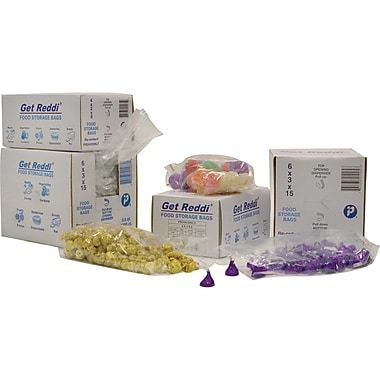 Inteplast Group PB060315 Food and Poly Bag, 15in.(H) x 6in.(W) x 3in.(D), Clear