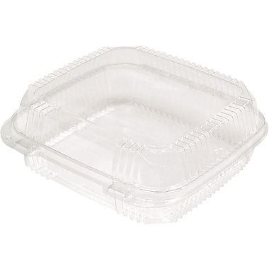 Pactiv Corporation® Smartlock® YCI81110 Large Hinged Lid with Compact Tray, 62 oz., Clear