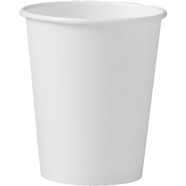 SOLO® 370W Single Poly Paper Hot Cup, 10 oz. White, 1000/Carton