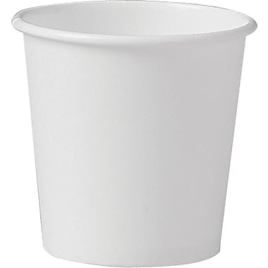 SOLO® 374W-2050 Single Poly Paper Hot Cup, 4 oz. White, 1000/Carton