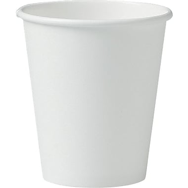 SOLO® 376W Single Poly Paper Hot Cup, 6 oz. White, 1000/Carton