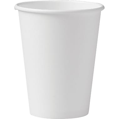 SOLO® 412WN Single Sided Poly Paper Hot Cup, 12 oz. White, 1000/Carton