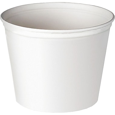 SOLO® 5T1UU Unwaxed Double Wrapped Paper Bucket, White