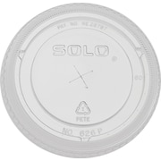 SOLO® Bare® Eco-Forward® 626TS Pete Flat Cold Cup Lid, Clear, 24 oz., 1000/Case