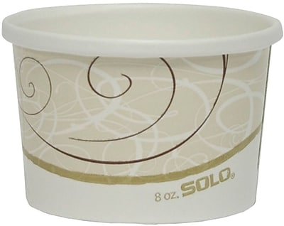 SOLO Flexstyle H4085SYM Double Sided Poly Paper Food Container 150305