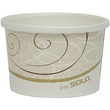 SOLO® Flexstyle® H4085SYM Double Sided Poly Paper Food Container