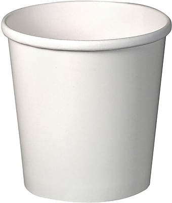 Solo Cup Company Flexstyle Double Poly Paper Containers, 16oz, White, 25/Pack, 20 Packs/Carton H4165U