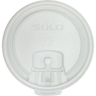 SOLO® LB3101 Liftback and Lock Tab Lid, White, 10 oz., 1000/Case