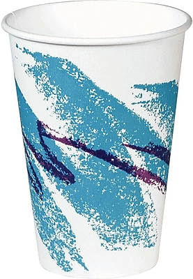 SOLO Jazz PV588J Hot Vending Cup, White/Green/Purple, 8 oz. 150323