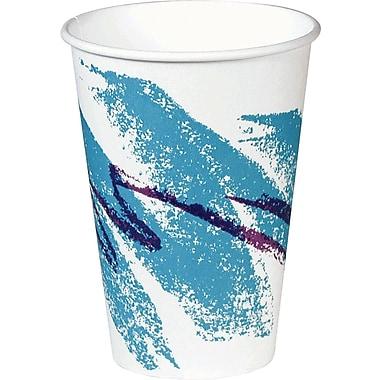 SOLO® Jazz® PV588J Hot Vending Cup, White/Green/Purple, 8 oz.