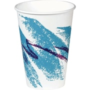 SOLO® Jazz® PV588J Hot Vending Cup, White/Green/Purple, 8 oz.