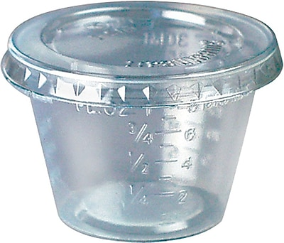SOLO T101 Graduated Medicine Cup, 1 oz., Clear 150332