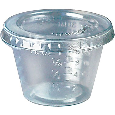 SOLO® T101 Graduated Medicine Cup, 1 oz., Clear